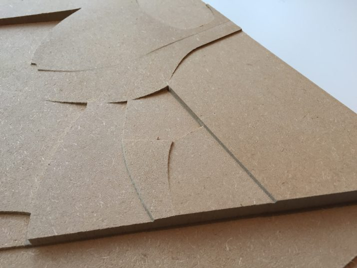 Arkitekturmodel i MDF