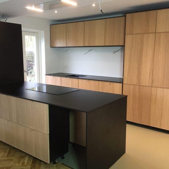 Sorte køkkenbordplader